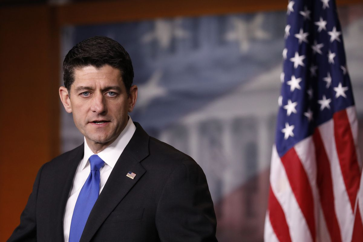 House Speaker Paul Ryan Holds Weekly Press Conference At The Capitol