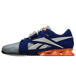 "Sport: Weightlifting. <strong>Reebok</strong> CrossFit Lifter in Blue/Steel/Grey/Nacho,  <a href=""http://shop.reebok.com/us/product/men-reebok-crossfit-lifter-shoes/EF580?cid=J99456&breadcrumb=svZu2Z1z121q3Z1z13070Z1z11zrf"">$149.99</a>"