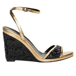 Leather wedge sandal, $145