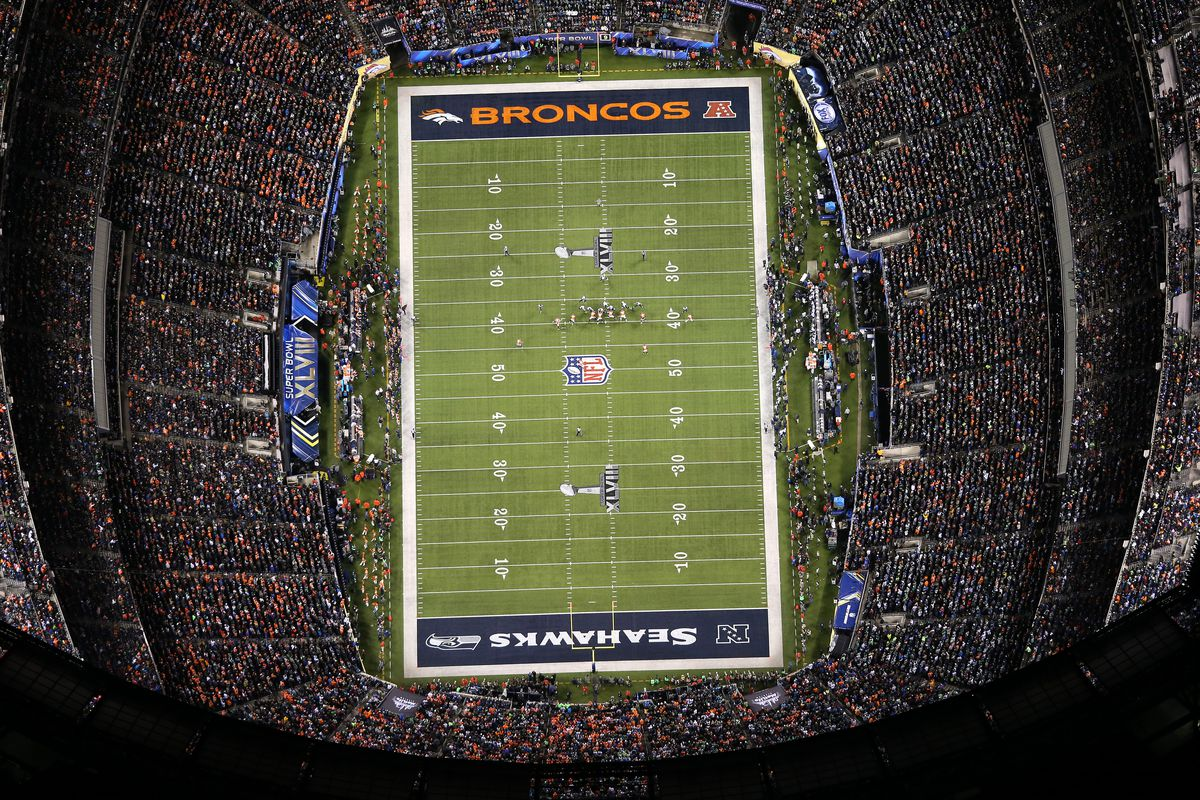 Aerial view of the Super Bowl