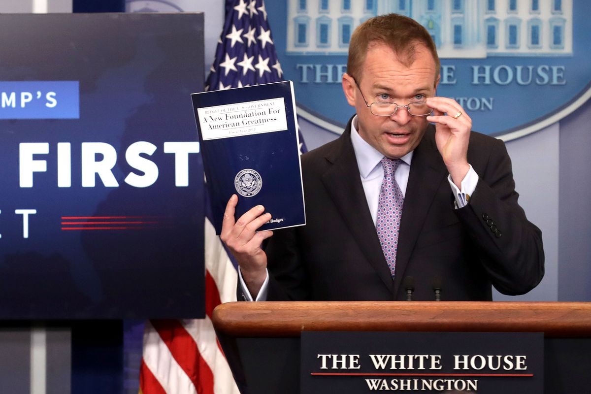 Office Of Management And Budget Director Mick Mulvaney Holding Briefing On Budget At White House