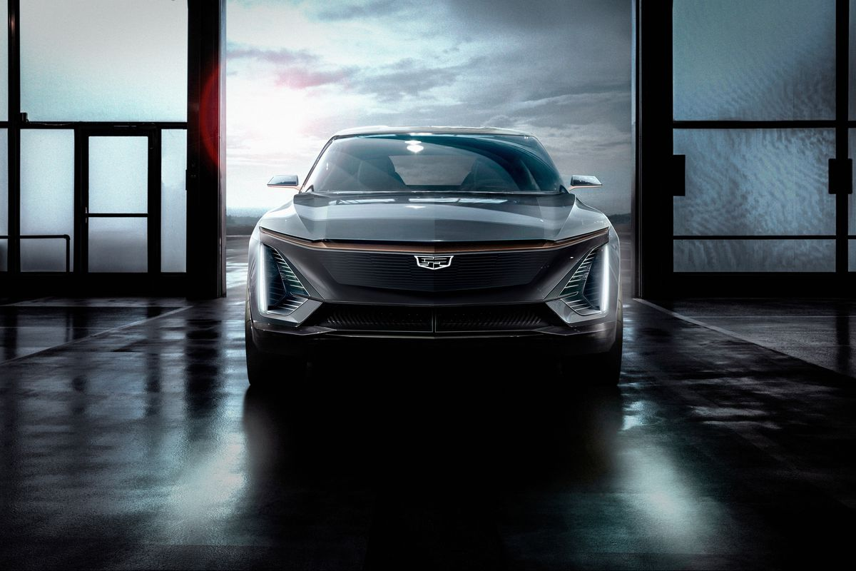 Cadillac Teases Images Of Its First All Electric Vehicle