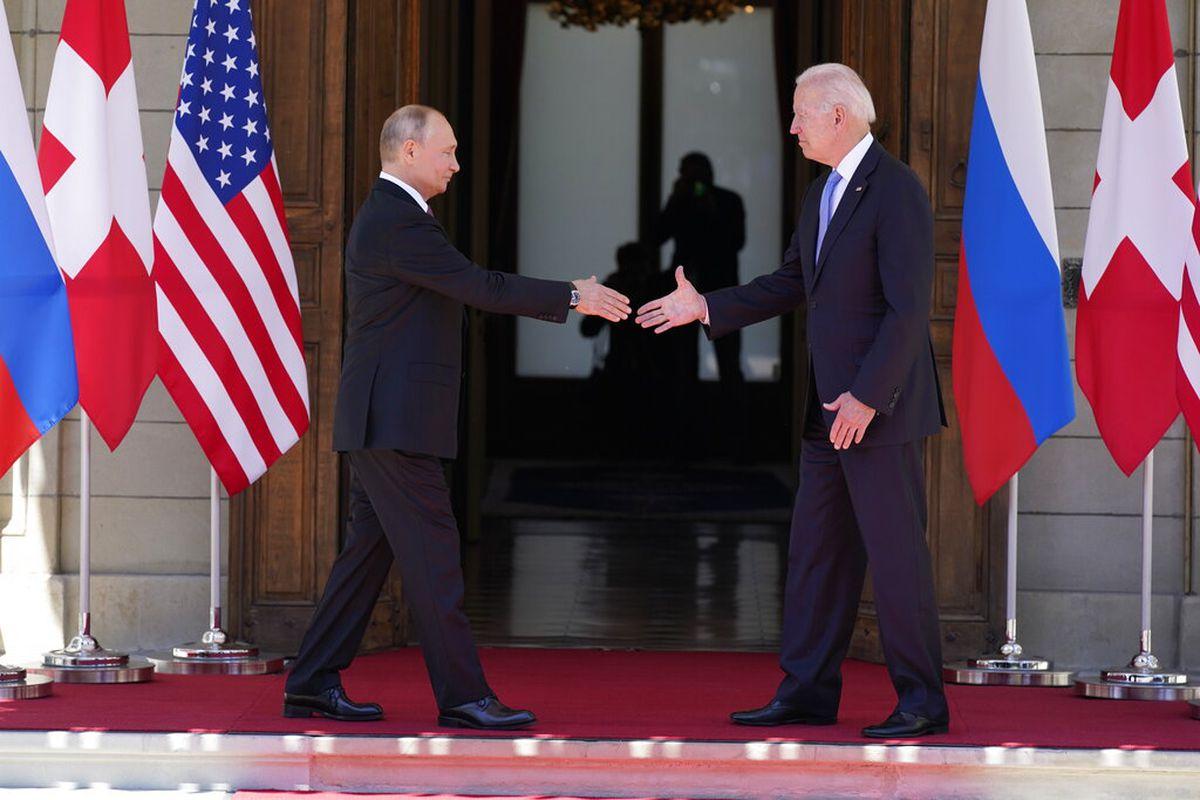 Russian President Vladimir Putin and U.S. President Joe Biden and in Geneva.