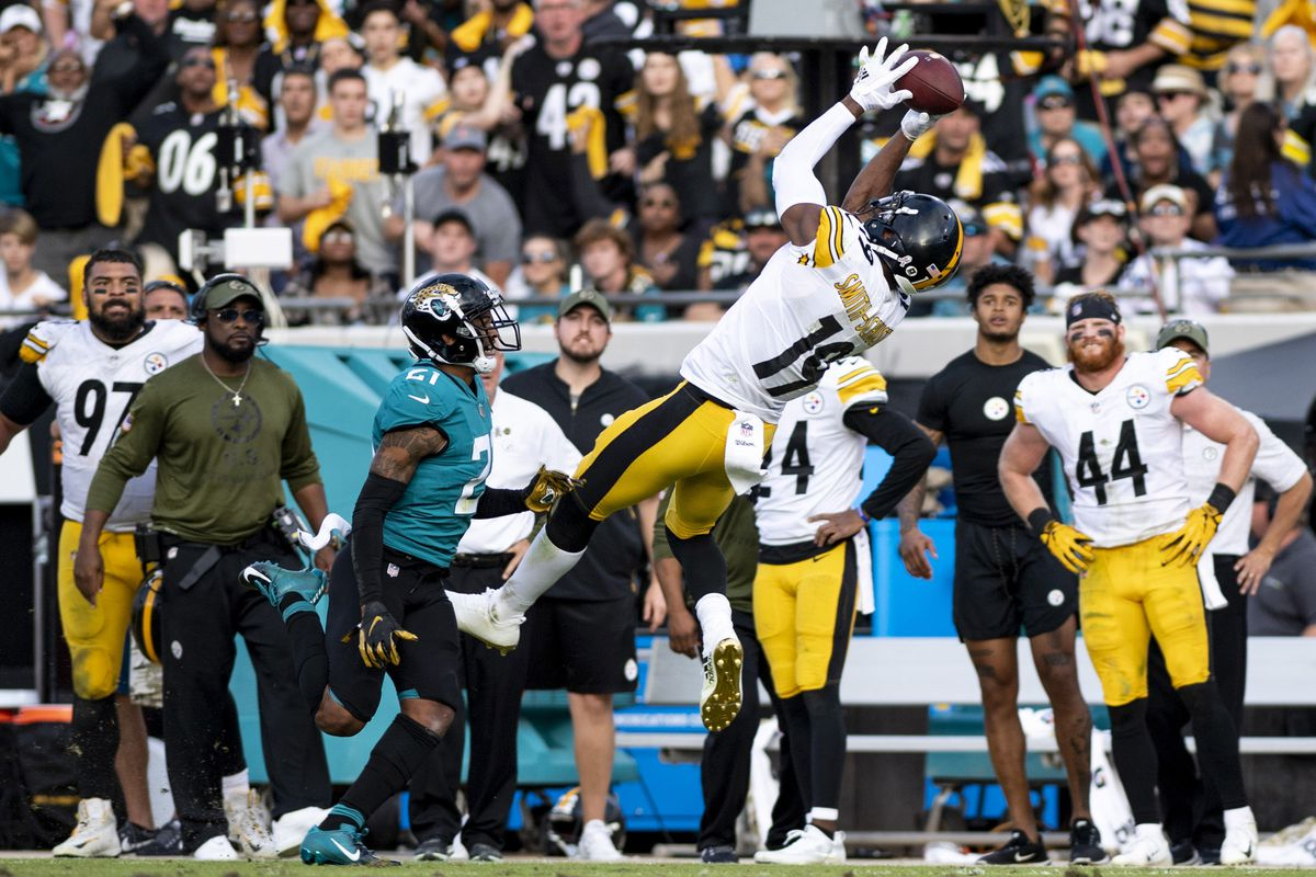 485d9a1ec Douglas DeFelice-USA TODAY Sports. When the Steelers selected receiver JuJu  Smith-Schuster ...