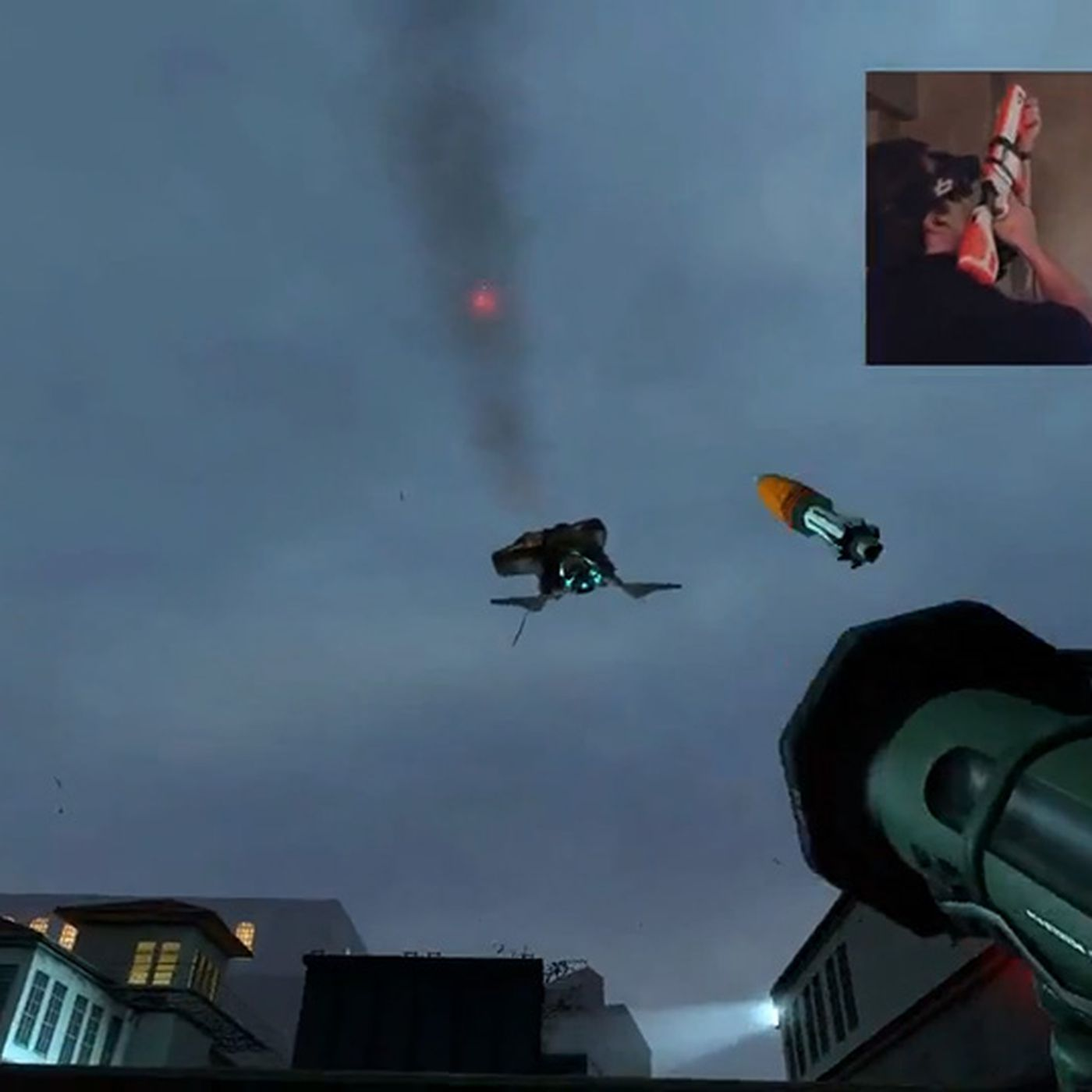 Half-Life 2 modded to add head and gun tracking ahead of