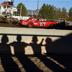 Fans watch the demolition derby at the Utah State Fair Sunday. Fair officials hope to get some funding from the Legislature to help pay for next year's events.