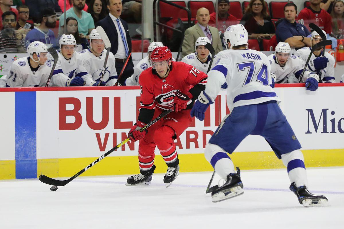 NHL: SEP 19 Preseason - Lightning at Hurricanes