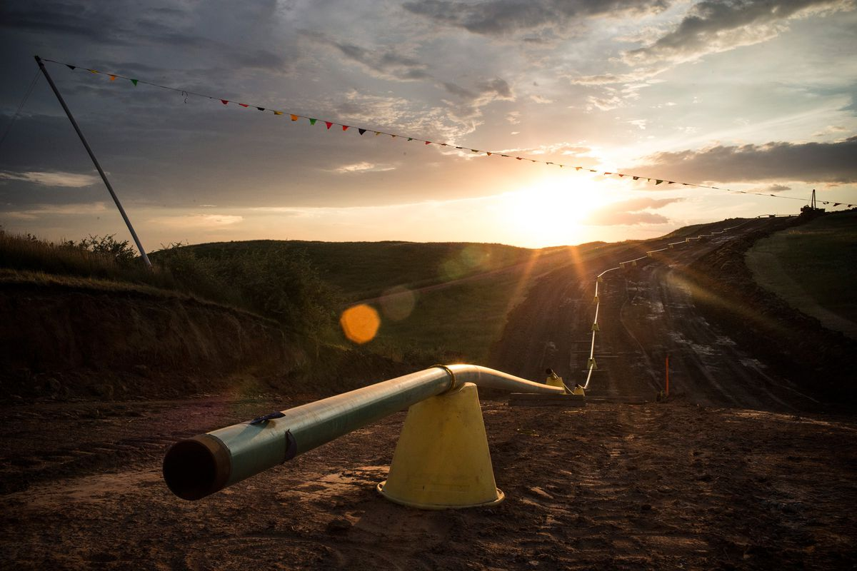 Sections of pipe wait to be welded together and placed into the ground outside Watford City, North Dakota. North Dakota has been experiencing an oil boom, but it's also stuffed with young college graduates.