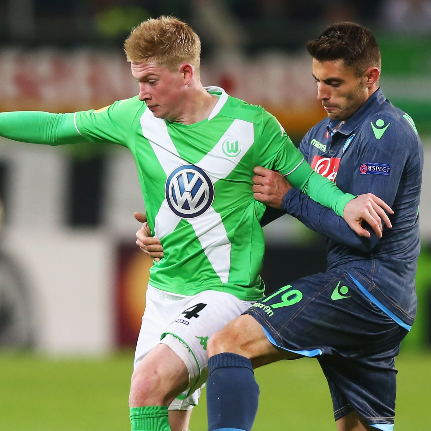buy online c9bf1 2dc96 Kevin De Bruyne out for Wolfsburg against Napoli - The ...