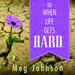 """""""When Life Gets Hard"""" is a talk on CD by Meg Johnson on lessons learned when she fell and became a quadriplegic."""