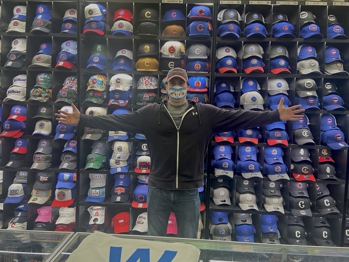 Josh Sklar, 40, inside Sports World Chicago, 3555 N. Clark St. He's one of the owners of the store.