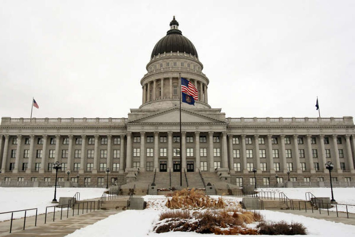 The Utah State Capitol on the opening day of the Utah State Legislature Monday, Jan. 23, 2012.