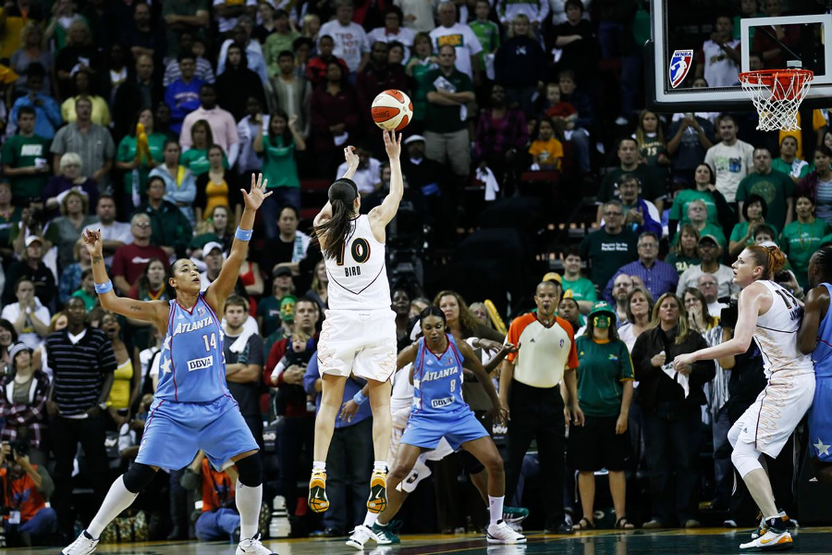 """With all five of their starters returning, the Seattle Storm figure to be among the WNBA's best teams once again. But can they repeat as champions? <em>Photo by <a href=""""http://www.kailasimages.com"""" target=""""new"""">Kailas Images</a>.</em>"""
