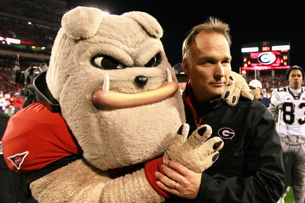 Richt's modeling face is rather unsettling.