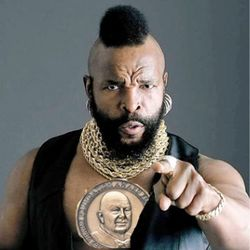 <b>Give it to Mr. T.</b>:  He knows how to rock a gold chain better than any chef with a faux-hawk.