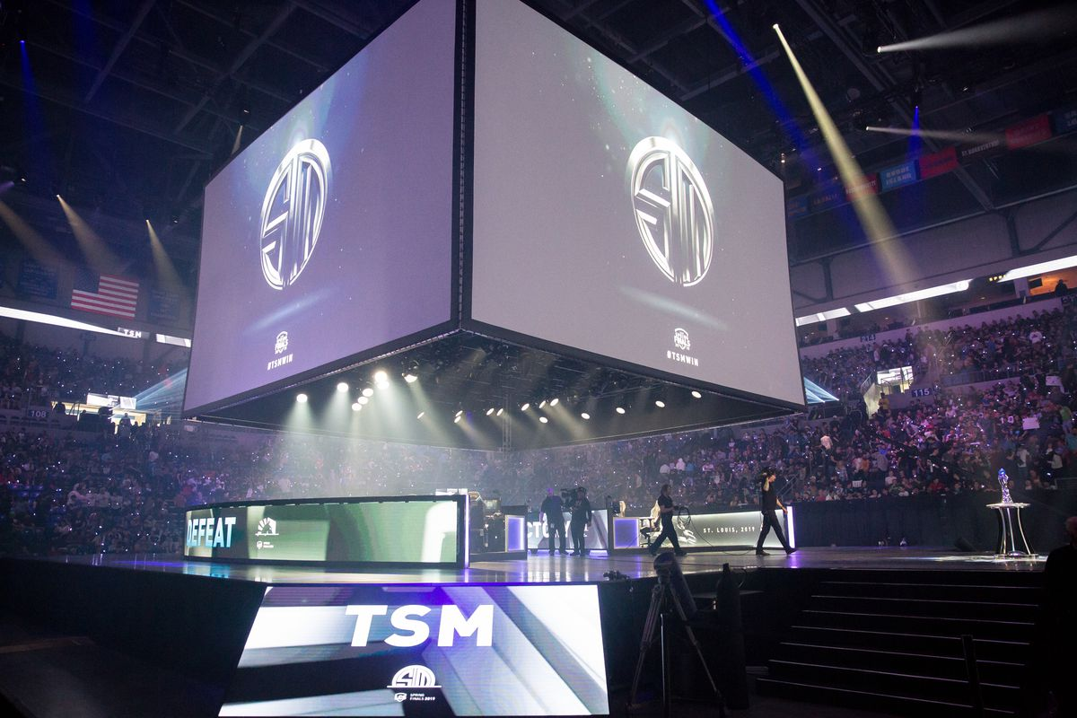 Presenting team Team SoloMid at LCS Spring Finalsat Chaifetz Arena on April 13, 2019 in St Louis, Missouri.
