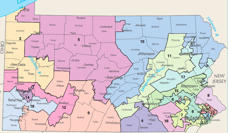 Pennsylvanias Gerrymandered House Map Was Struck Down With Huge - Pennsylvania map
