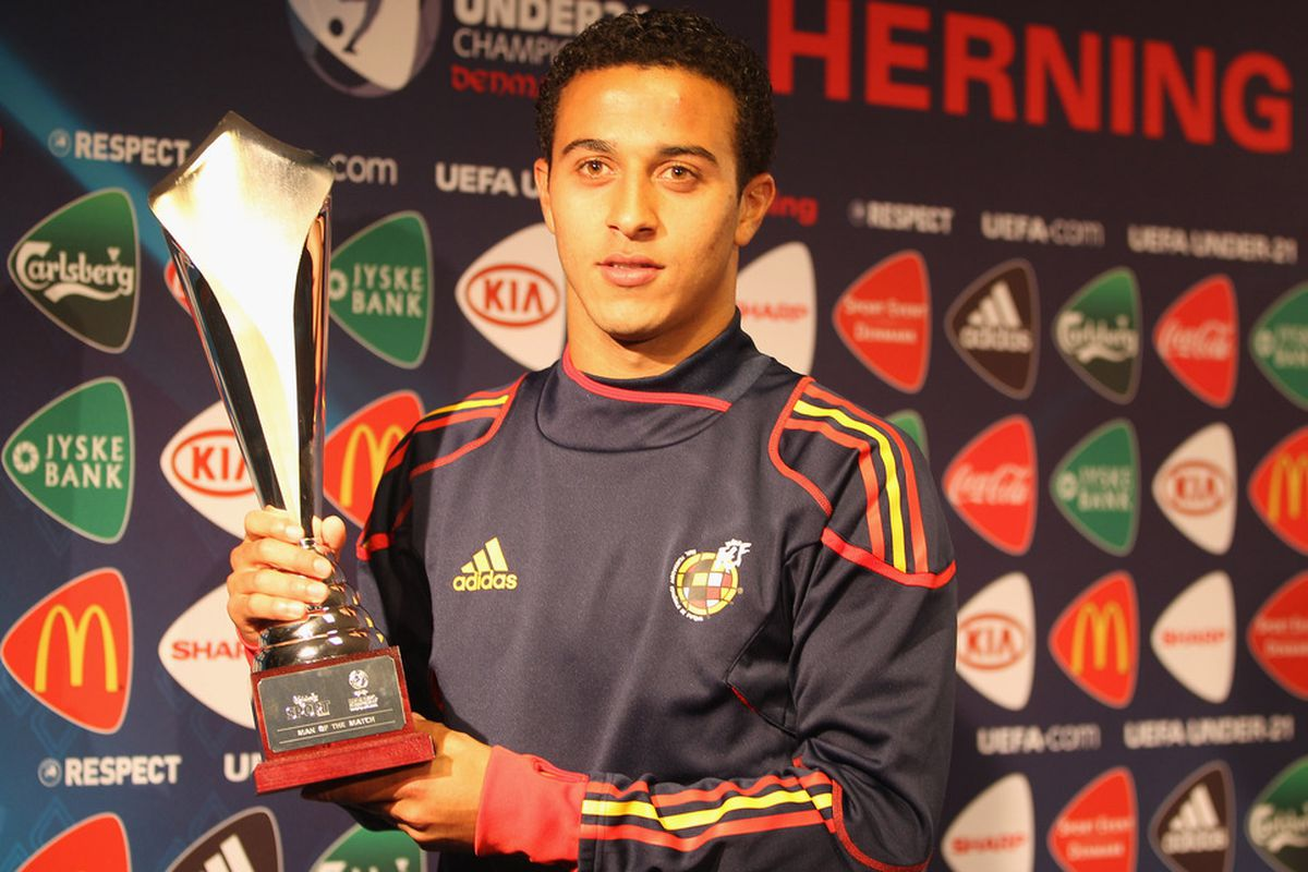 Thiago has been one of the most impressive players in the U21 European Championship. He has one Man of the Match Trophy to show for it.