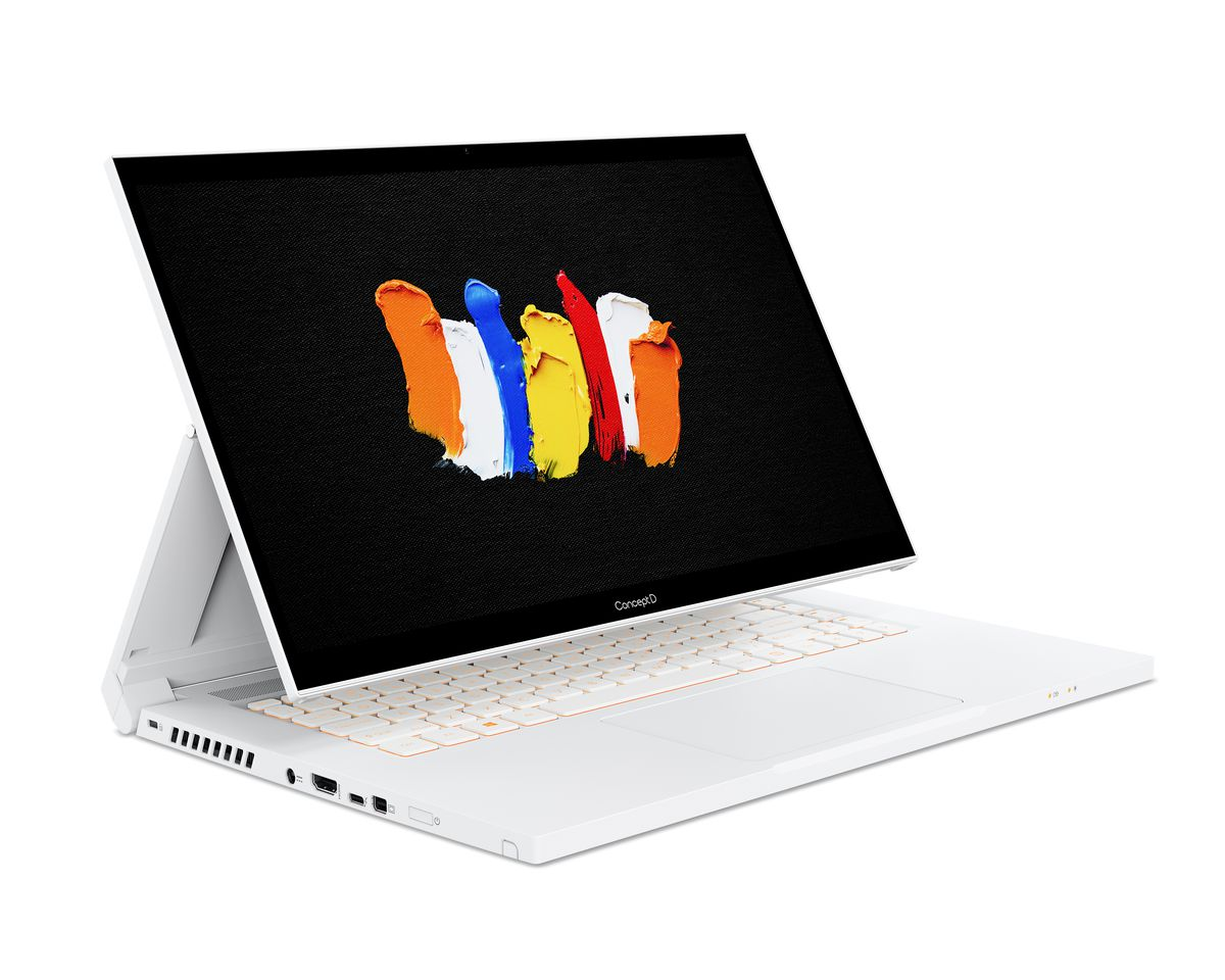 Acer ConceptD 3 Ezel 15.6-inch laptop on a white background