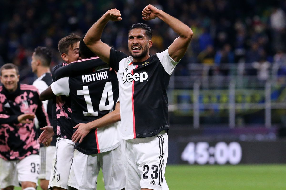 Emre Can of Juventus FC celebrate at the end of the Serie...