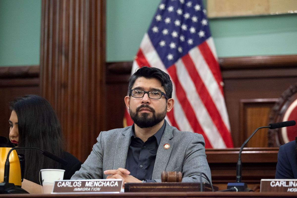Councilmember Carlos Menchaca (D-Brooklyn) heads a hearing on ICE raids in the city.