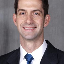 In this photo provided by the Arkansas Secretary of State's office, taken Feb. 24, 2012, Republican Congressional candidate Tom Cotton poses in Little Rock, Ark. Cotton and one other candidate in the race for Arkansas 4th Congressional district are veterans of the war in Afghanistan.