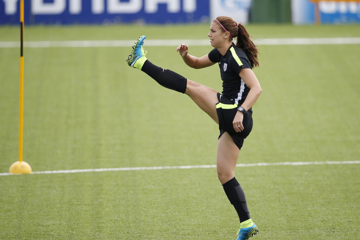 """""""The Kicks"""" happens to be the name of Alex Morgan's young adult book series about girls playing soccer."""