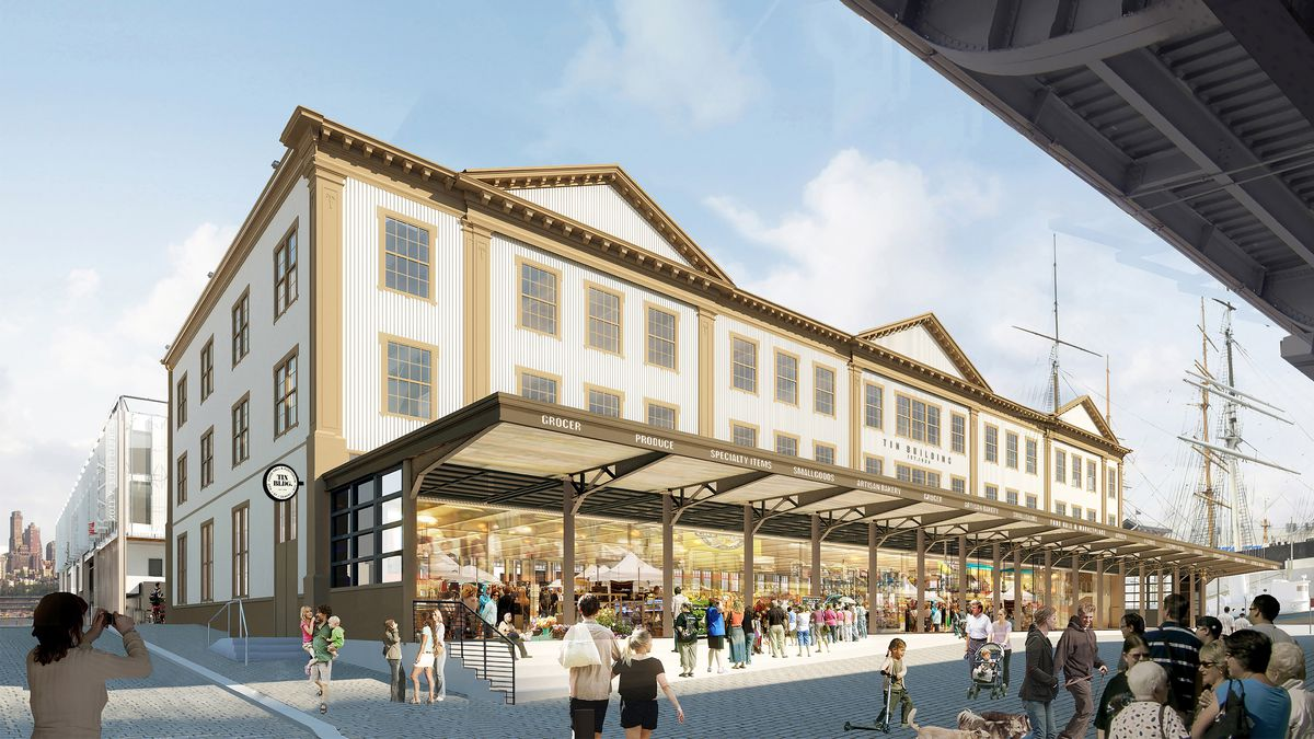 A rendering of the JGV market
