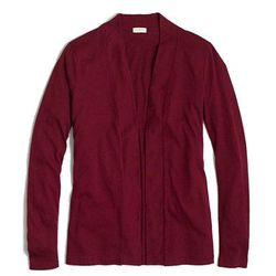 "<b>J.Crew Factory</b>, <a href=""https://factory.jcrew.com/womens-clothing/knits_tees/sweatshirts_cardigans/PRDOVR~64462/64462.jsp?color_name=hthr-graphite"">$30</a>"