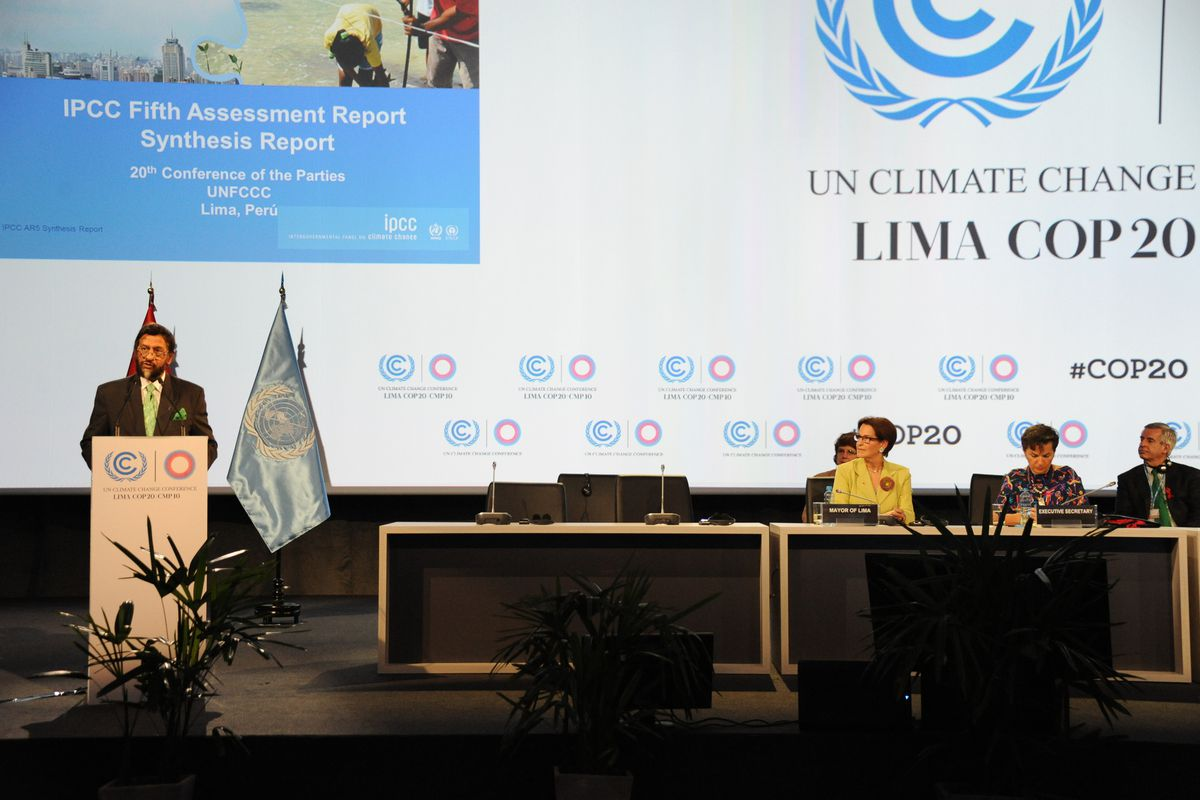 A photo from the UN climate change conference in Lima, December 1, 2014.