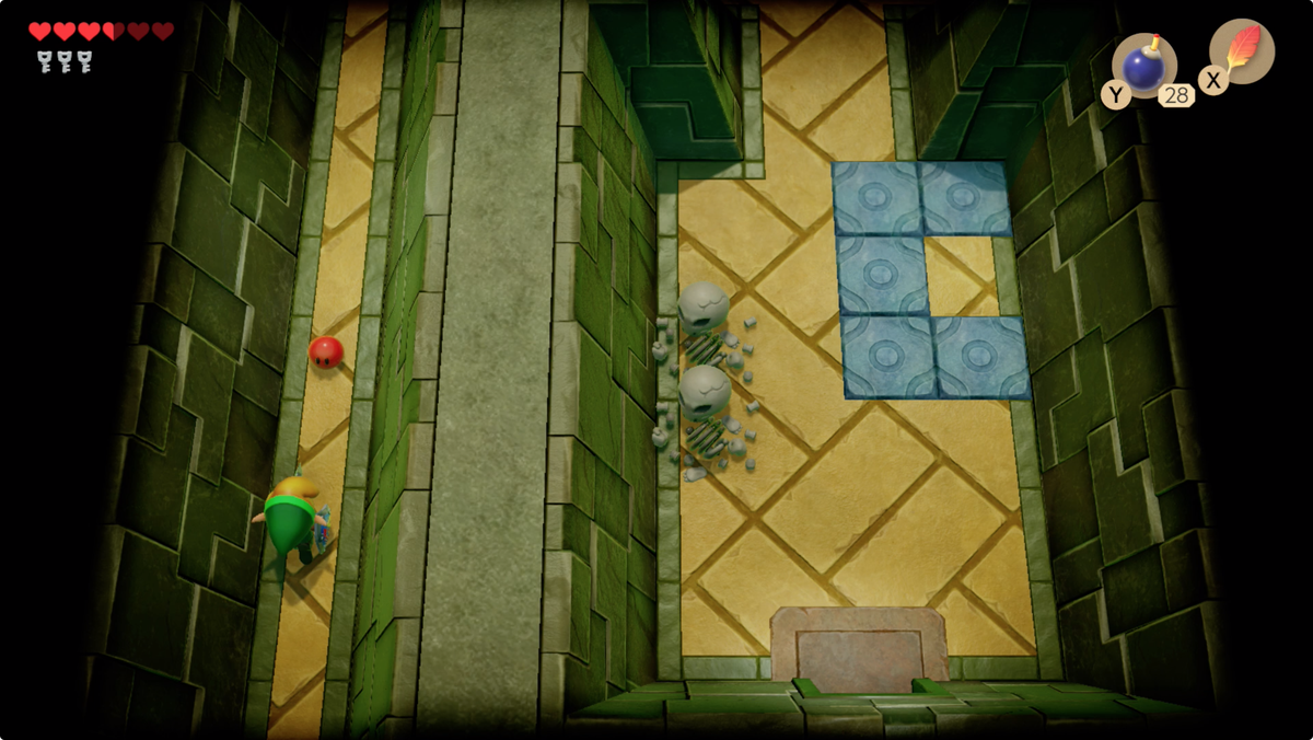 Link's Awakening Key Cavern Pegasus Boots give you access to the left hallway near the entrance