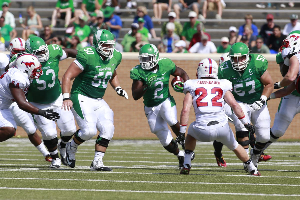 Can the Mean Green dominate behind their offensive line?