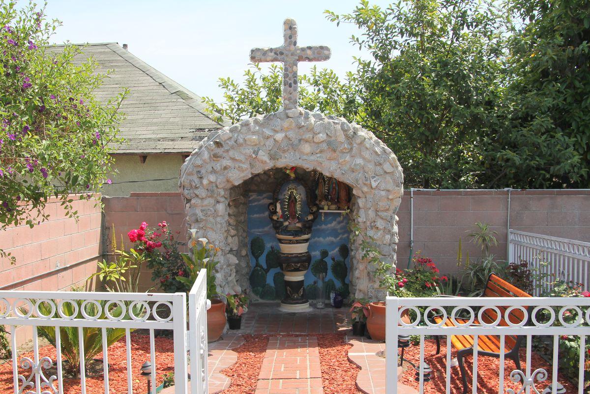 Shrine to the Virgin of Guadalupe behind Manuel's Original El Tepeyac Cafe