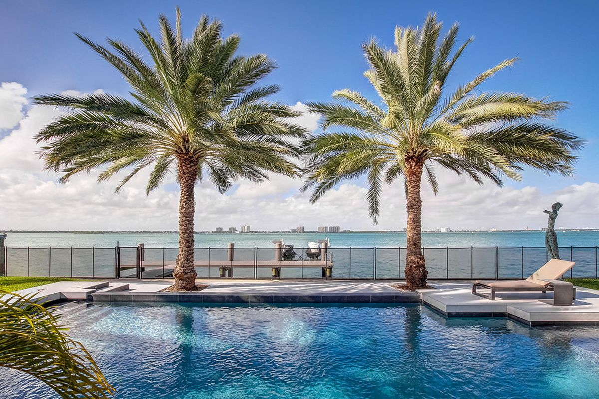 A gorgeous bay view from a home in Miami Beach