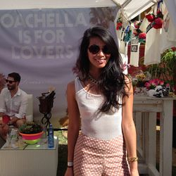 Also at The Saguaro: Revolve's VIP lounge with cabanas hosted by a range of brands, like LA's Lovers + Friends. Here's founder Raissa Gerona.