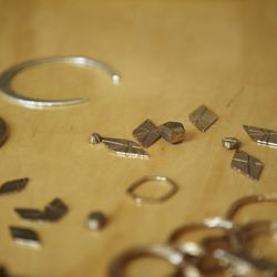 Leith Earrings in the works.