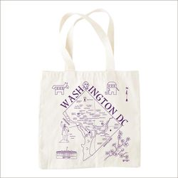 """Washington D.C. map tote, <a href=""""http://tabletopdc.com/onthego/washington-dc-map-tote"""">$18</a> at Tabletop"""
