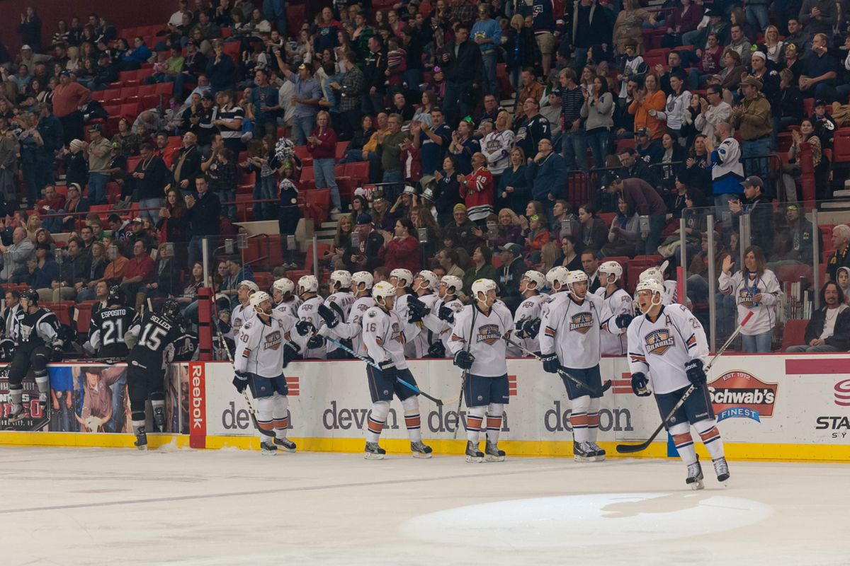 """Who's in? Who's out? Who is the team to finish out the minor league season? Photo courtesy of <a href=""""http://www.okchockeyphotos.com"""" target=""""new"""">Rob Ferguson</a>. All rights reserved."""