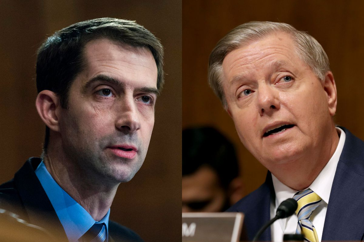 Image result for tom cotton and lindsey graham