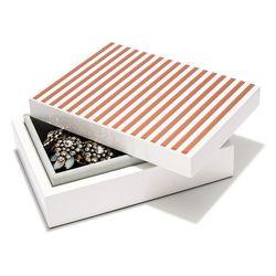 "Striped jewelry box, <a href=""http://www.baublebar.com/striped-jewelry-box.html"">$48</a>"