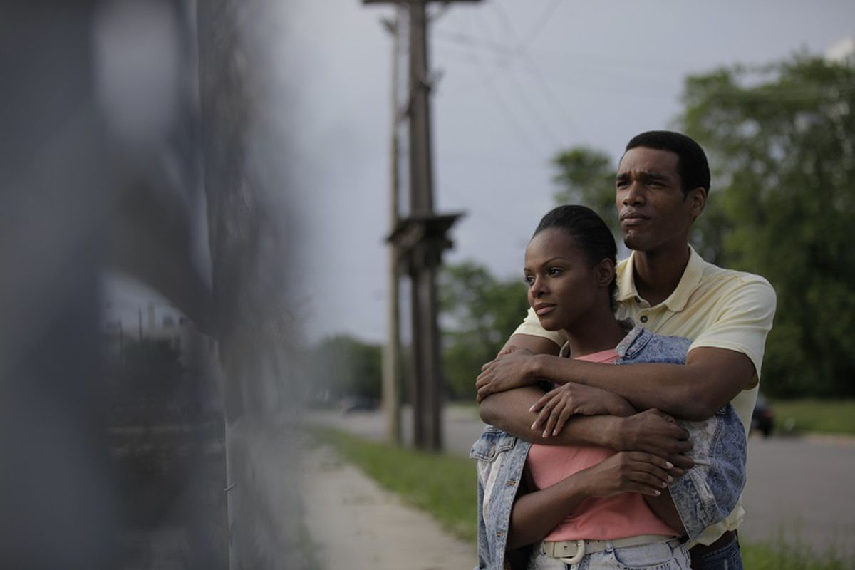 Tika Sumpter and Parker Sawyers as Michelle and Barack Obama in Southside With You.