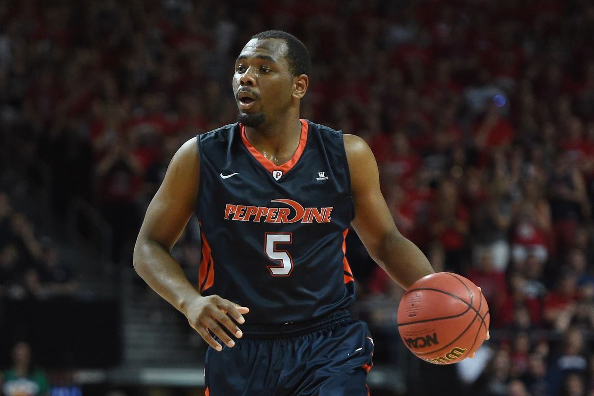 Pepperdine's Stacy Davis during the 2015 WCC Tournament.