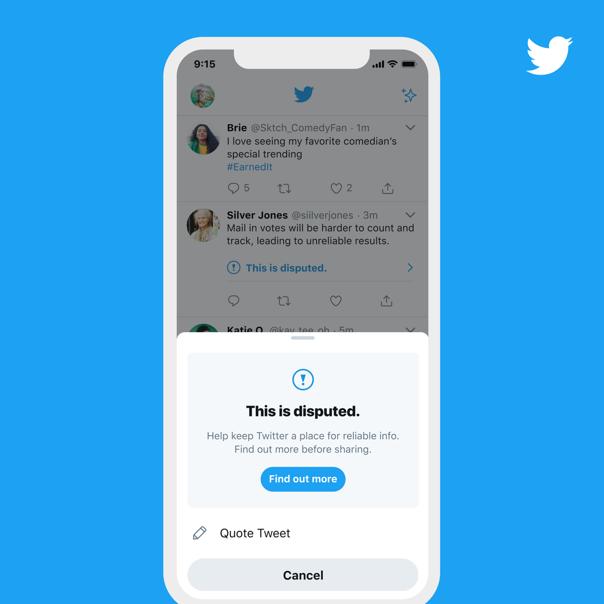 Twitter will label misleading tweets