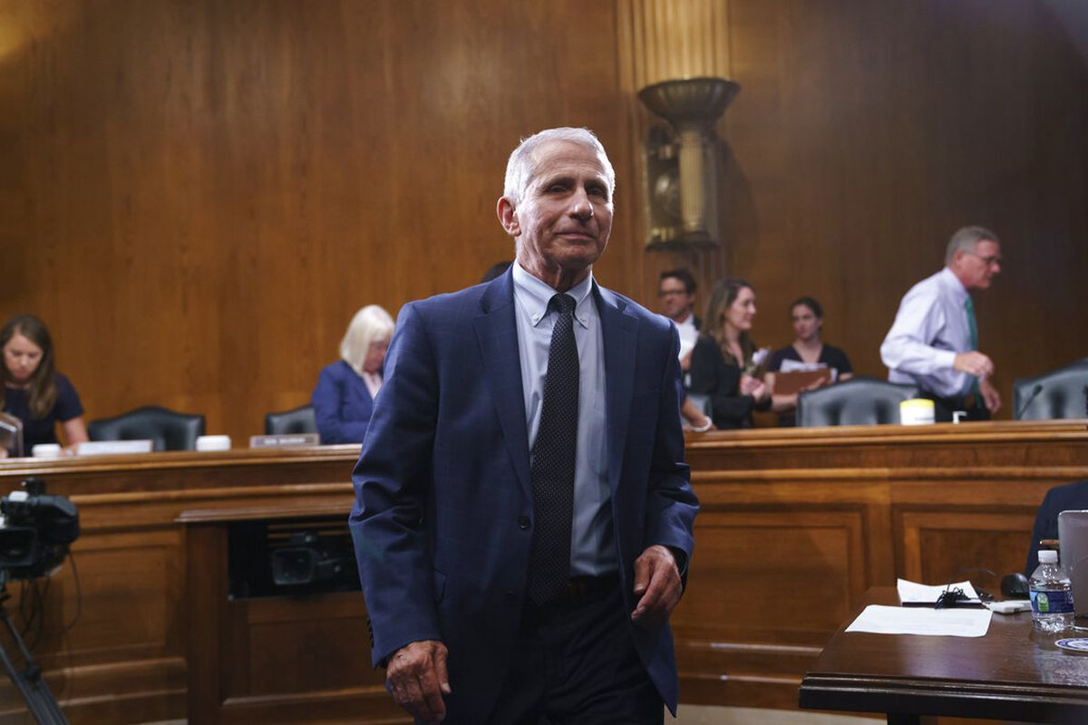 Top infectious disease expert Dr. Anthony Fauci on Capitol Hill in Washington.