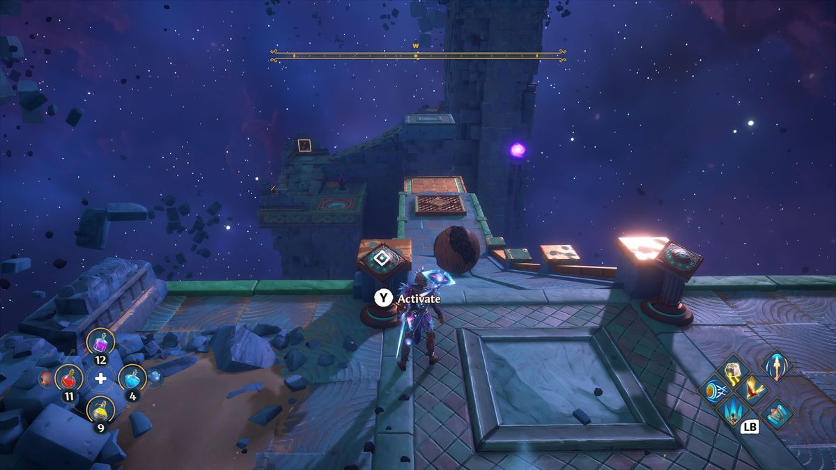 A puzzle solution in Immortals Fenyx Rising