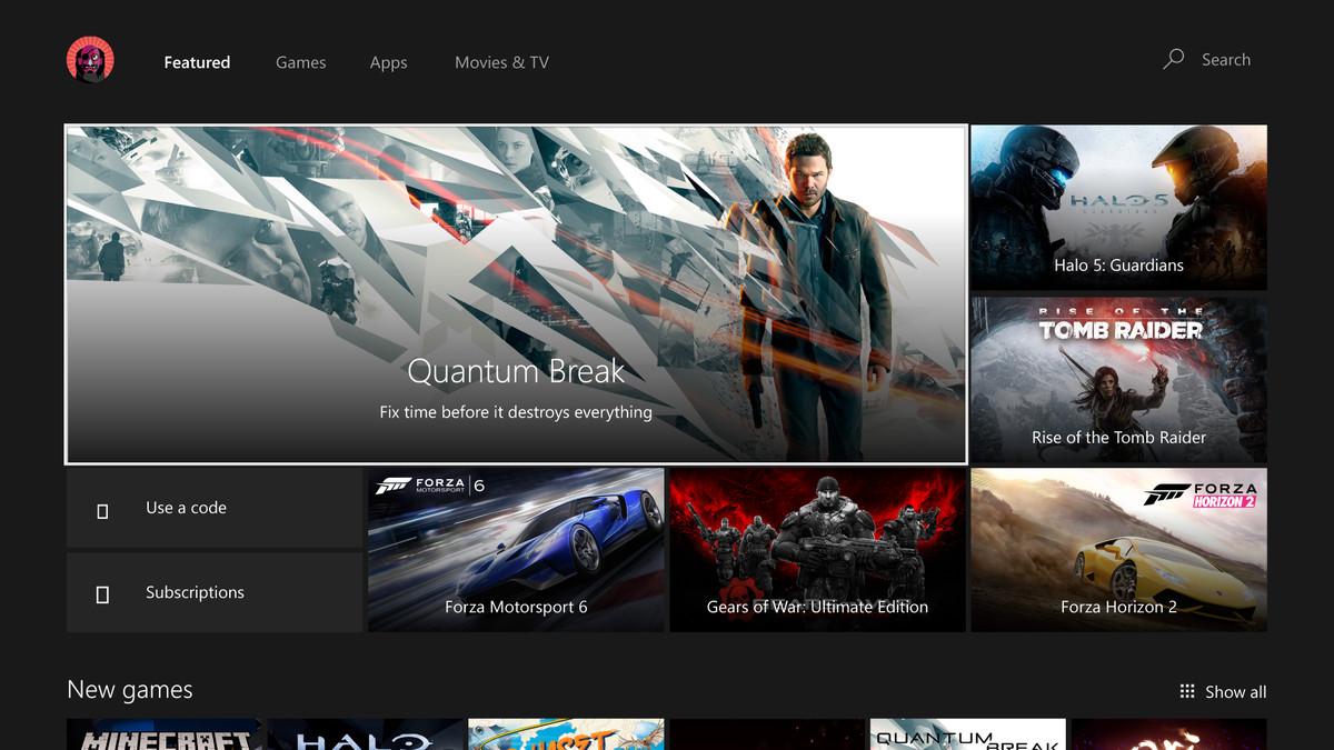 Xbox Windows Store new