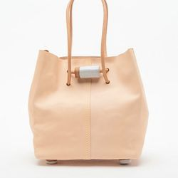 """For a unique twist on the basic tote, artist Juliana Hung mixes in clay beads. <a href=""""http://www.beklina.com/product_info.php?pName=jujumade-tote-bag&cName=accessories-bags"""">Jujumade Tote Bag</a>, $470 at Beklina."""