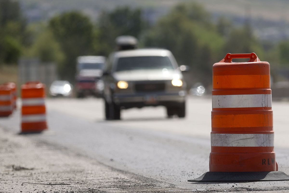 Traffic moves along I-80 near 1300 East in Salt Lake City, where the Utah Department of Transportation will begin a project to add a new eastbound lane on the freeway.
