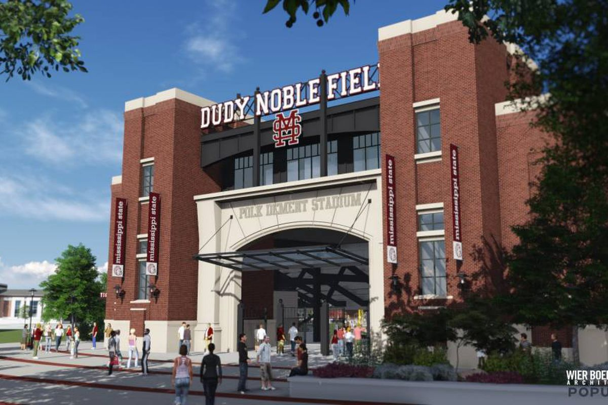 This is one of the entrances to the beautiful plan for the future of Dudy Noble Field