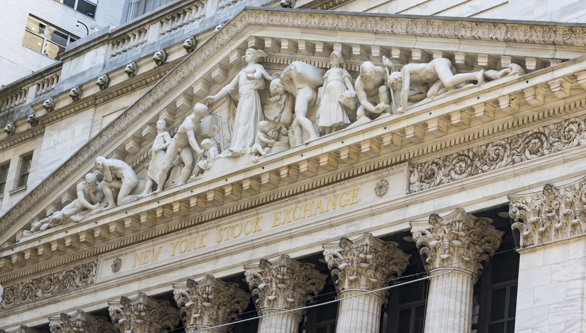 41ec38383374b6 New York Stock Exchange sculpture on facade titled Integrity Protecting the  Works of Man. LightRocket via Getty Images